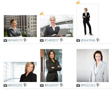 Stock photo showing times downloaded