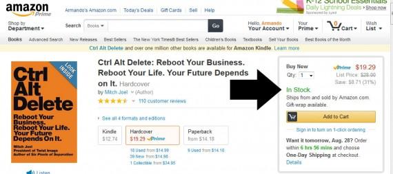 Amazon shows an items availability.