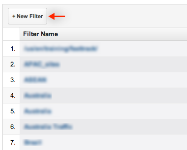 "Select ""New Filter"" from the resulting list."