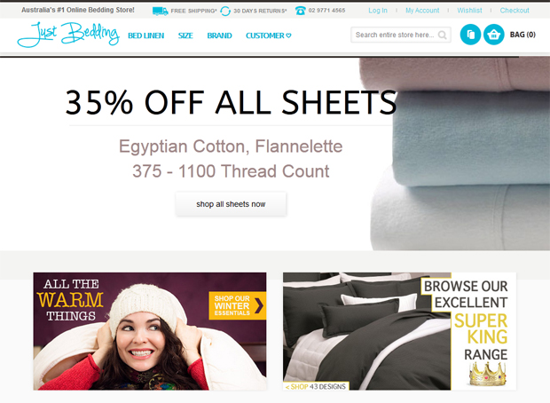 Just Bedding website.