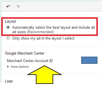 Link your Google Merchant Center with AdWords: