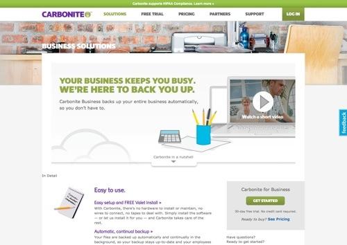 Carbonite website
