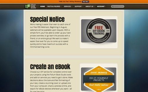 Folium Book Studio website
