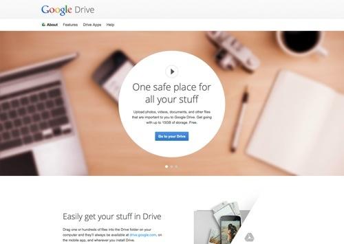 Google Drive website