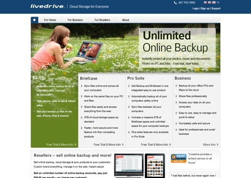 Livedrive website
