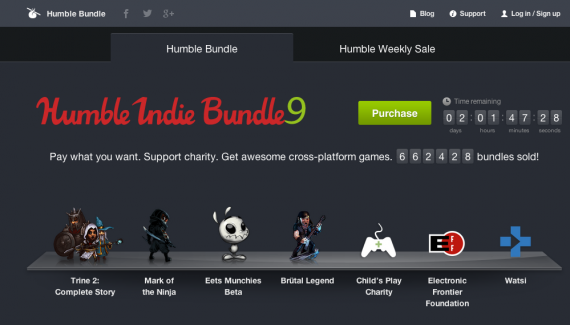 Humble Bundle screenshot