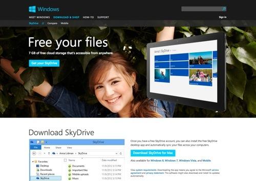 SkyDrive website