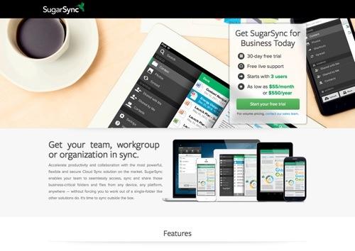 SugarSync website
