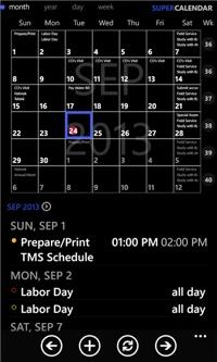 Super Calendar app