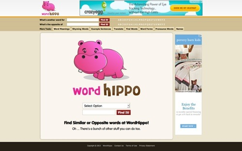 WordHippo website