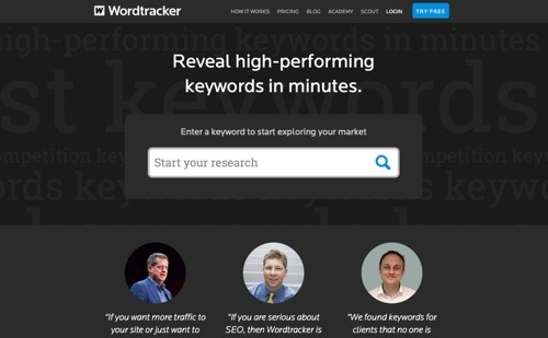 Wordtracker website