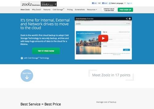 Zoolz website