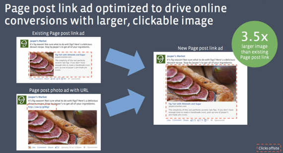 Facebook increased image size in ads