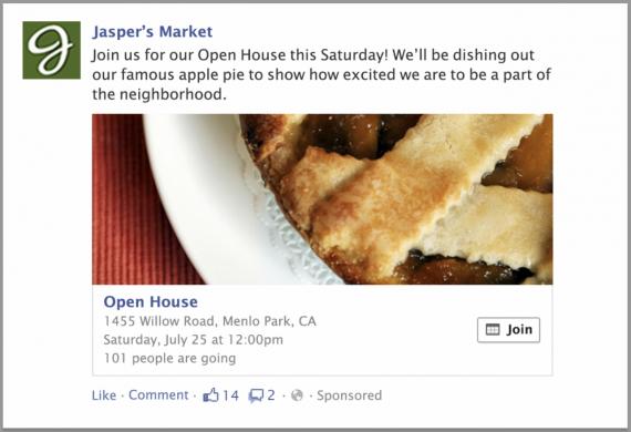 Facebook event ad