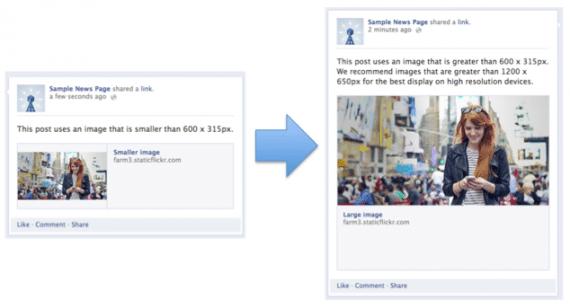 Example image size change