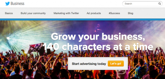 Twitter business page