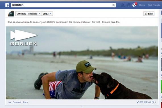 Goruck's Facebook page.