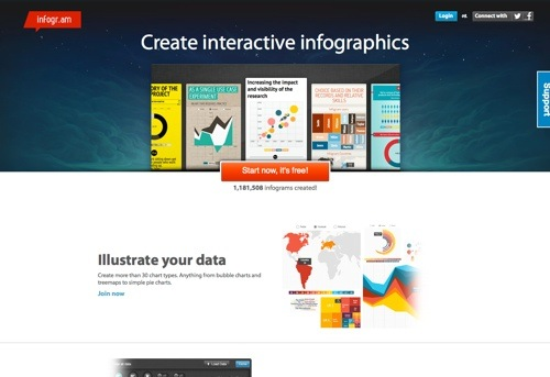 Infogram website