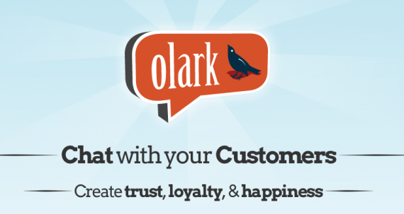 Olark home page.