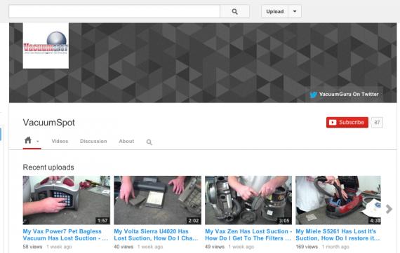 Vacuum Spot's YouTube channel.