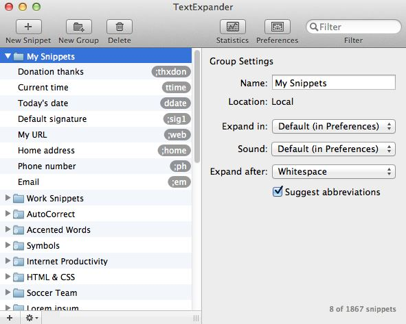TextExpander for OS X lets you assign keyboard shortcuts to your most used phrases.