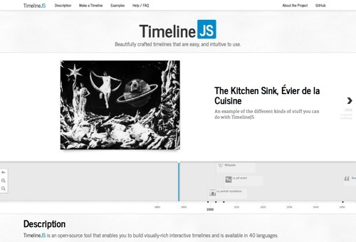 Timeline JS website