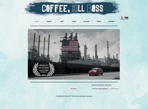 Coffee, Kill Boss website