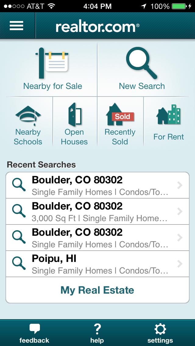 Realtor.com mobile app.