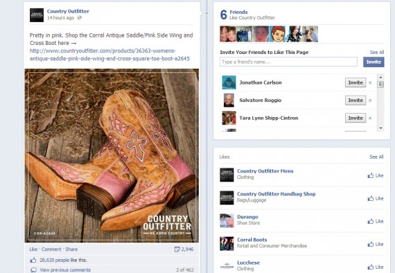 Country Outfitters generated more than 28,000 likes from a photo post.