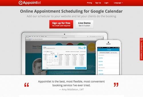 Appointlet website
