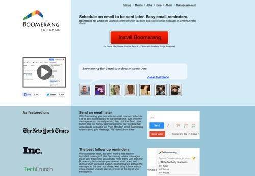 Boomerang website