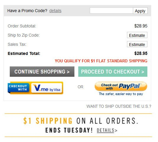 Checkout payment alternatives at PacSun.com.