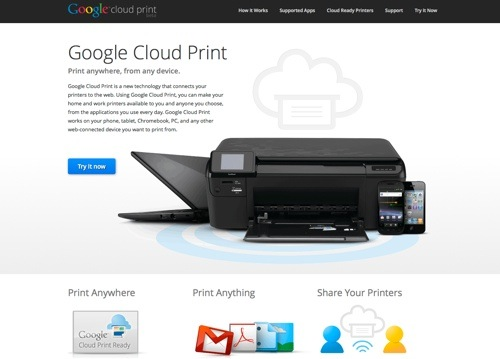 Google Cloud Print tool