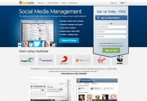 HootSuite website