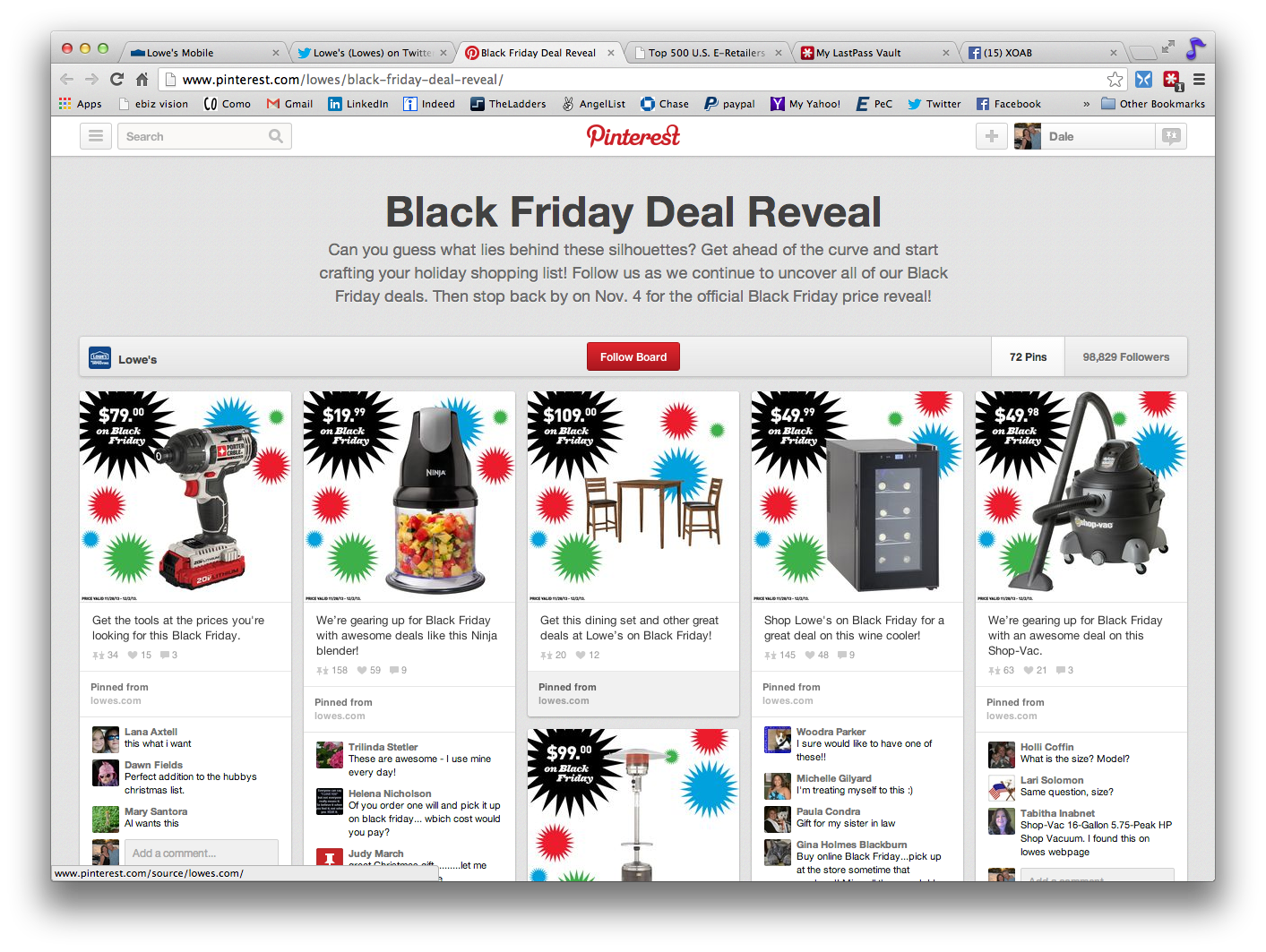 Black Friday Deal Reveal Pinterest Board