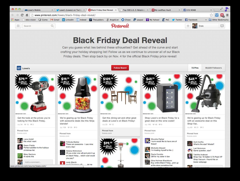 Black Friday Deal Reveal Pinterest Board