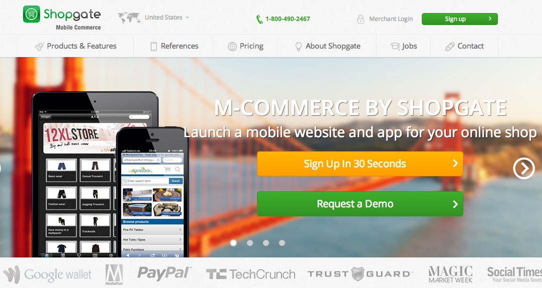 Shopgate is a service to help merchants offer a mobile platform.