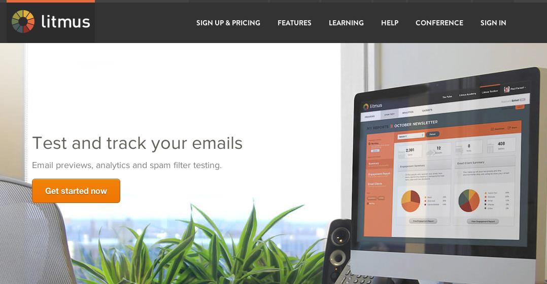 Litmus home page.