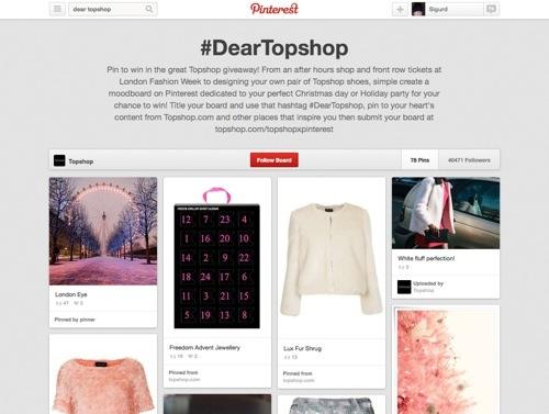 Topshop website