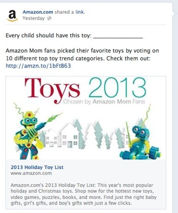 Amazon.com's Holiday Toy List