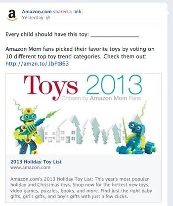 Amazon.com's Holiday Toy List