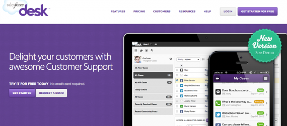 Desk.com is a help desk solution that incorporates social media for customer support.