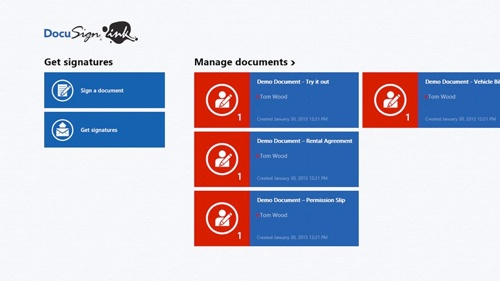 DocuSign Ink app