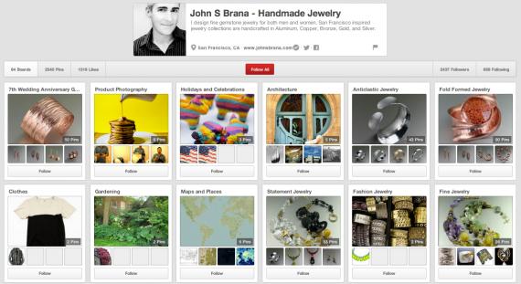 John S Brana Pinterest page