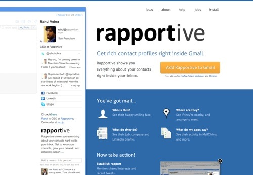 Rapportive website