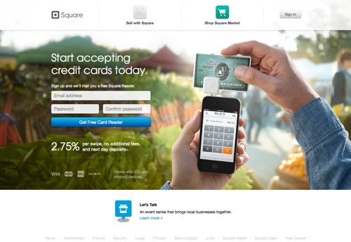 Square website