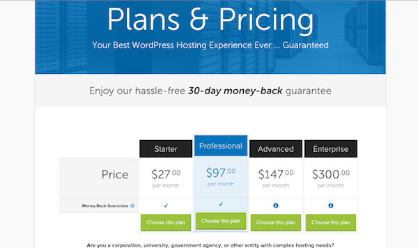 Synthesis pricing plans.