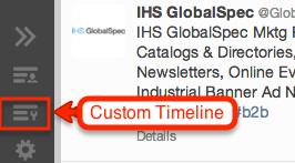 Twitter custom timeline icon