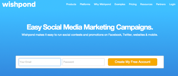 Wishpond offers up to eight different types of social marketing campaigns.