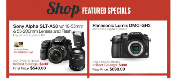 B&H also offered special prices.